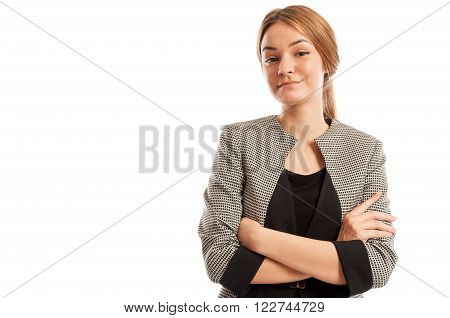 Confident Business Woman Crossing Her Arms