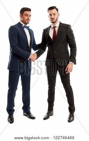 Successful Business People Shaking Hands
