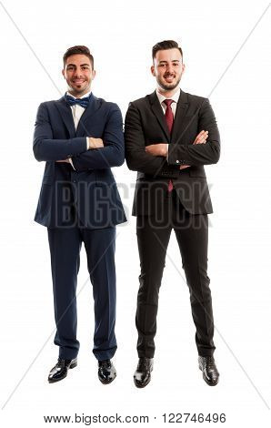 Confident And Successful Business Men Standing