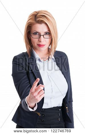Bossy Business Woman Concept