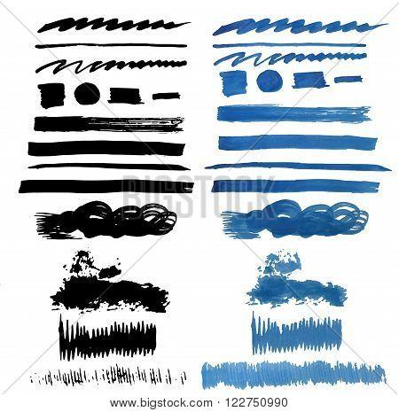 Brush Stroke Collection . Grunge Brush Stroke . Vector Brush Stroke . Distressed Brush Stroke . Black Brush Stroke . Modern Textured Brush Stroke .