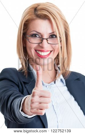 Business Lady Thumb Up