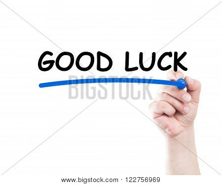 Good Luck Text Underlined