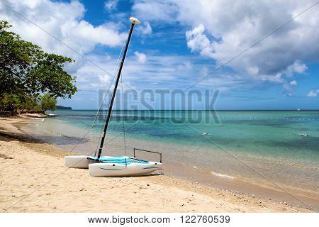 Gros Islet Beach, Saint Lucia, Caribbean Sea