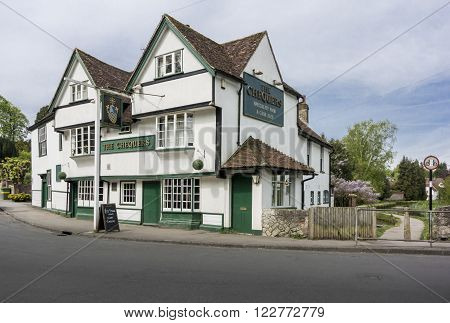 LOOSE KENT UK 11 MAY 2015 - The Chequers public house in the pretty village of Loose Kent UK