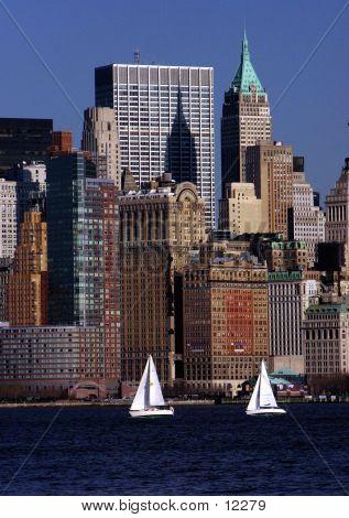Segeln im Hafen von New York