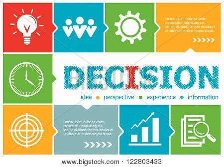 Decision Design Illustration Concepts For Business, Consulting, Management, Career.