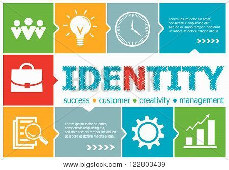 Identity Design Illustration Concepts For Business, Consulting, Management, Career.