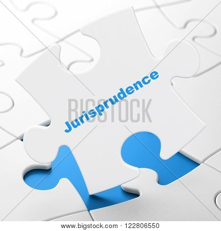Law concept: Jurisprudence on puzzle background