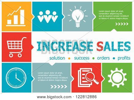 Increase Sales Design Illustration Concepts For Business, Consulting, Management, Career.