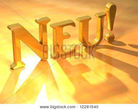 Neu Gold Text