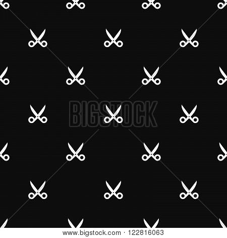 Seamless Scissors Silhouette Dark Pattern Background Texture