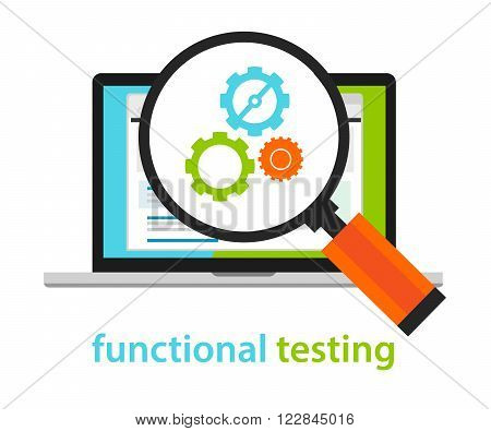 functional testing software development process methodology vector