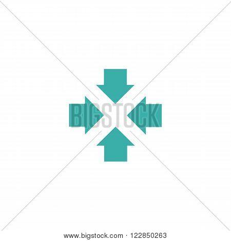 Four Arrows Logo, Form Letters X Graphic Concept, Intersection 4 Directions Creative Emblem Business