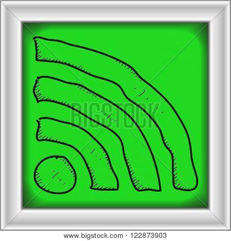 Simple Doodle Of A Wi-fi Symbol