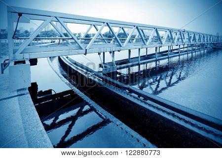 Chinese modern city sewage treatment plant tank