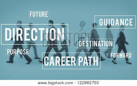 Direction Directional Goal Way Motivation Progress Concept