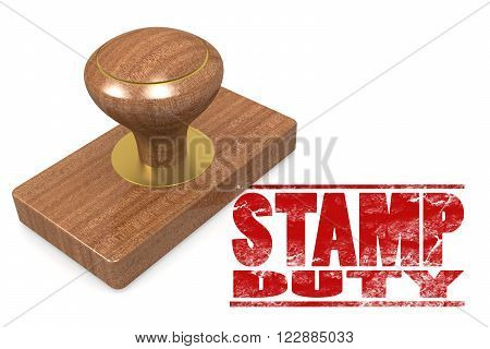 Stamp Duty Wooded Seal Stamp