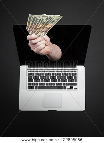 Online Transaction, Online Banking Theme.