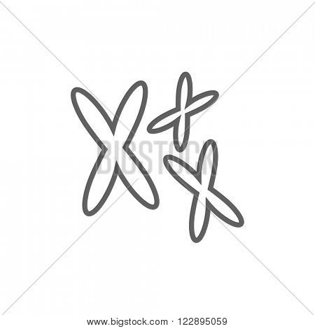 Chromosomes line icon.