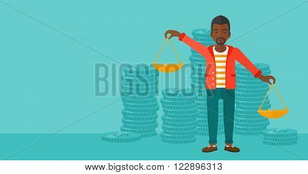 Businessman with scales.