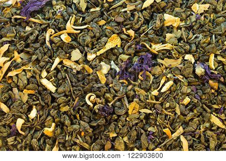 Background Of Green Tea With Additives