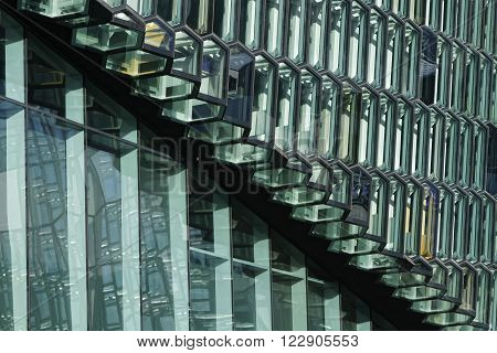 Reykjavik, Iceland, March 8, 2016 : Harpa Is A Concert Hall And Conference Centre In Reykjavik. The