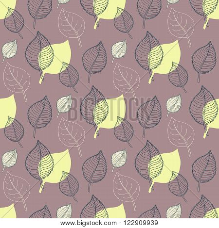 Seamless Autumn pattern:abstract green leaf, leaf fall, defoliation, autumn leaves , falling leaves