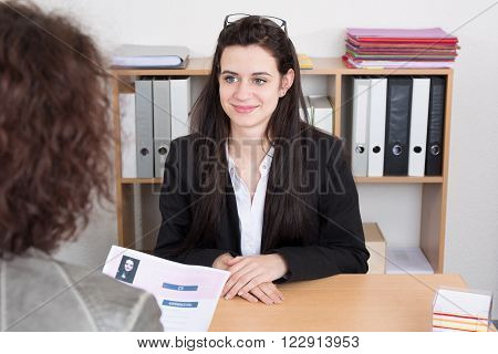 Young Woman In A Job Interview With Female Manager