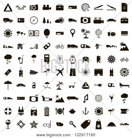 100 Travel Icons set use for any design