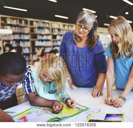 Academic School Children Learning Elementary Concept