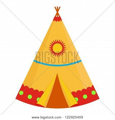 Indian wigwam vector illustration. Indian wigwam on white background. Indian wigwam vector. Indian wigwam isolated .