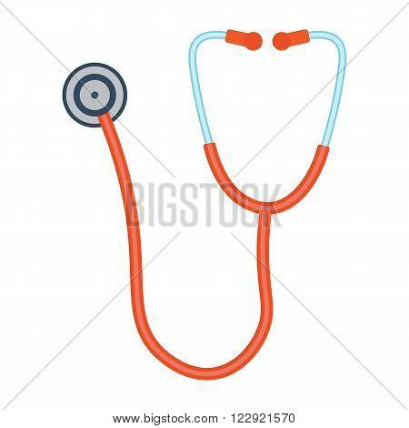 Phonendoscope vector illustration. Phonendoscope on white background. Stethoscope vector. Stethoscope isolated.