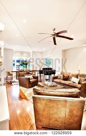 Modern living room interior of a luxury house