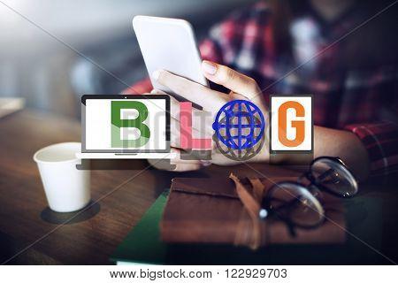 Blog Blogging Social Media Networking Online Concept