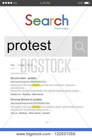 Protest Protesting Challenge Complaint Refuse Concept