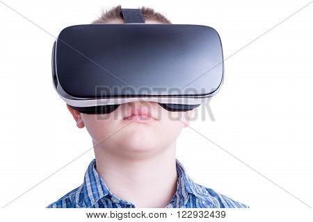 Child Watching Something On Virtual Headset