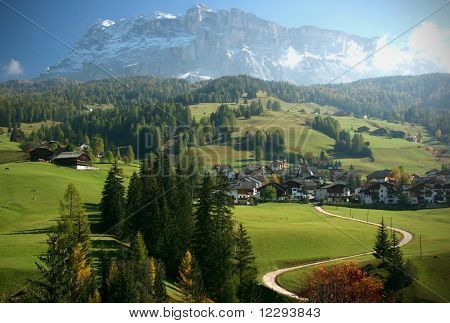 Village in Italian Alps