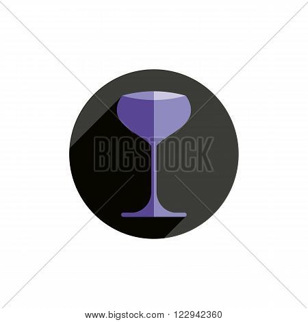 HoReCa graphic element sophisticated champagne glass. Alcohol theme conceptual symbol for use in advertising.