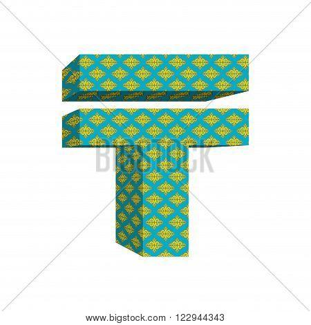 Tenge Sign Kazakh Money. National Currency In Kazakhstan. Beefy Big Surround Kazakh Cash. Tenge Sign