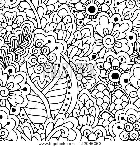 Seamless Black And White Pattern.