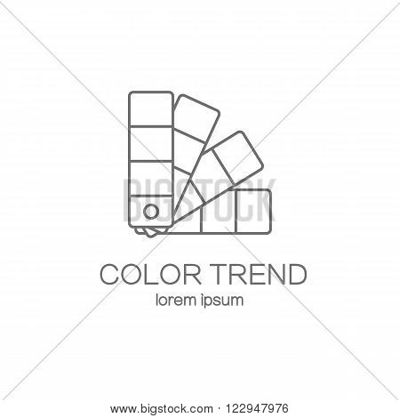 Color palette guide logotype design templates. Modern easy to edit logo template. Vector logo design series. poster