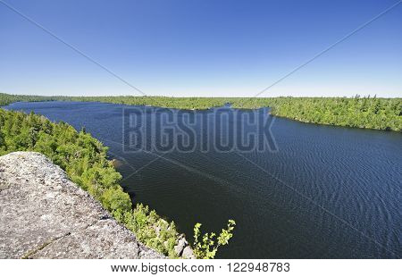 High Cliff View of a Winchell Lake in the Boundary Waters of Minnesota