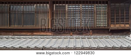 the walls pattern made in edo period have a pattern old style and identity of Japanese