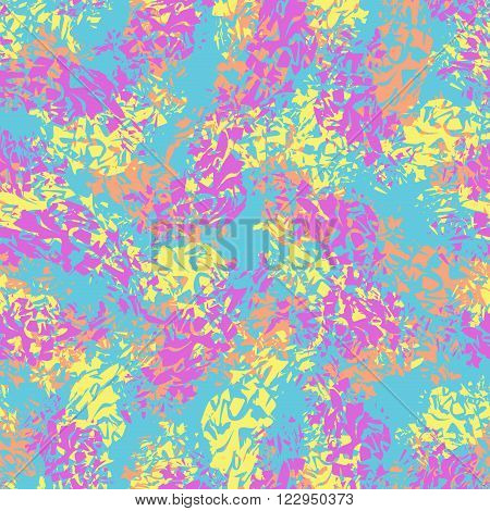 Abstract seamless pattern brushstroke paint stains. Vector bacground