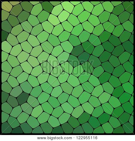 Abstract Geometrical Multicolored Background Consisting Of Geometric Elements Arranged On A Black Ba