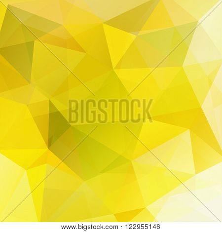 Geometric Pattern, Polygon Triangles Vector Background In Yellow And White Tones. Illustration Patte