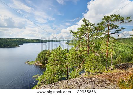 Landscape Of Saimaa Lake From Above, Finland