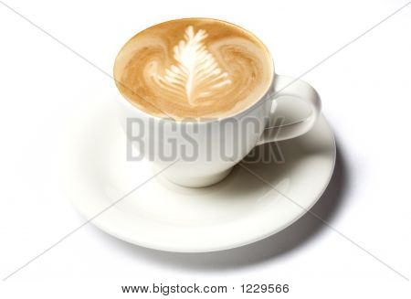 Barista Coffee Cup Isolated Over White