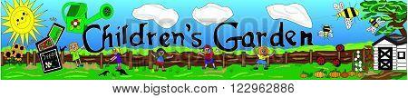 Children's Garden Banner Design for outdoor signage